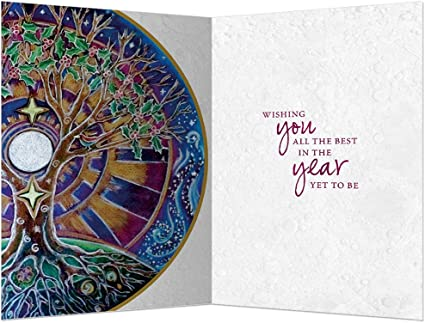 Tree-Free Greetings EcoNotes 12-Count Winter Solstice Card Set with Envelopes Mandala 4 x 6 93480