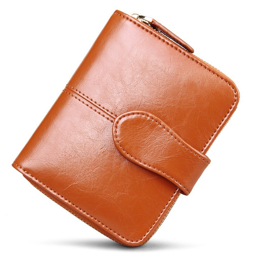 Myymee Oil Waxing PU Leather Small Card Wallet Clucth for Women