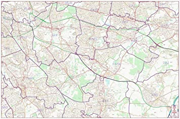 Map Central London Uk.Postcode Street Map South East Central London Colour Amazon Co