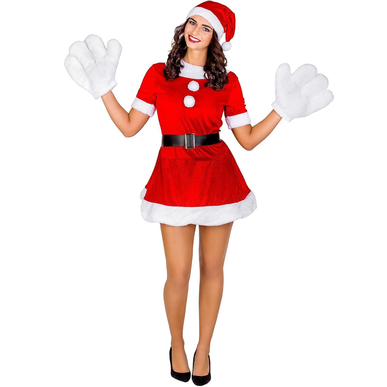 TecTake dressforfun Disfraz de elfa navideña para Mujer | Vestido ...