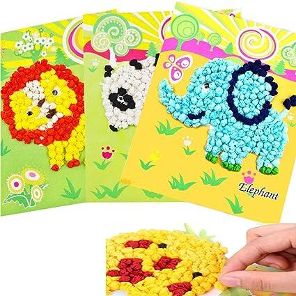 Amazon com: OSOPOLA Kids Tissue Paper Sticker Art Kit DIY Paper