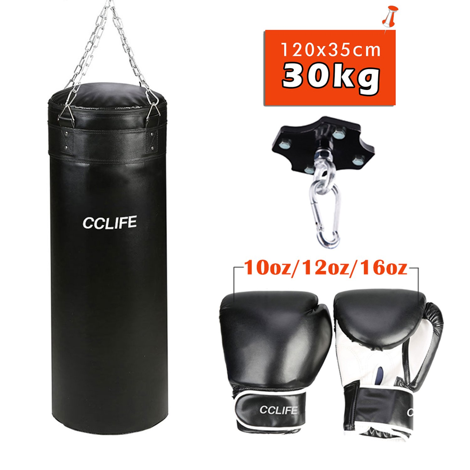ca 200 kg CCLIFE Punching bag ceiling holder ceiling hook punch bag max load
