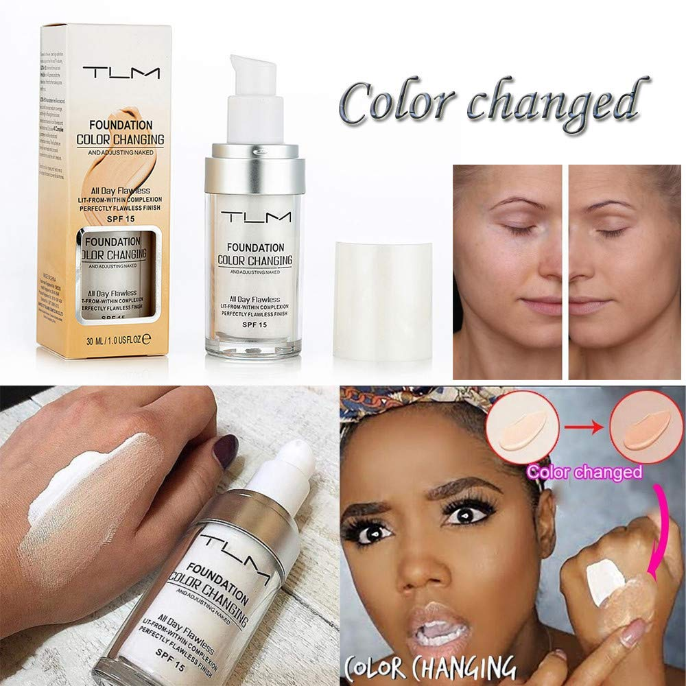New Concealer Foundation Makeup All-Day Flawless Oil Controlled Silky Smooth Makeup (White, 01)