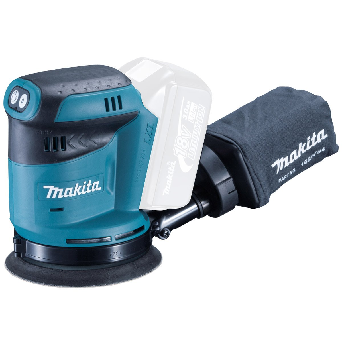Makita DBO140Z 14.4V Li-ion LXT Random Orbit Sander, No Batteries Included