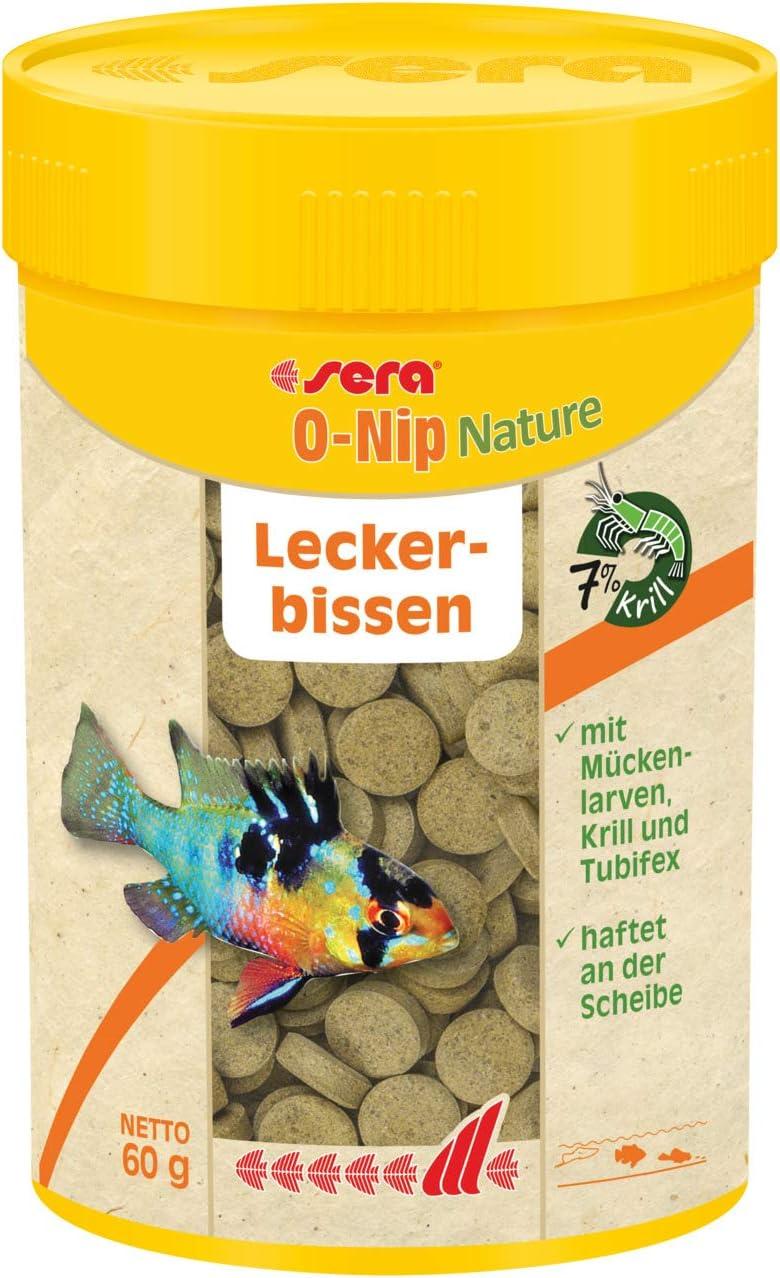 Sera O-Nip Treat Tablets Fish Food, 2.1 Ounce Container