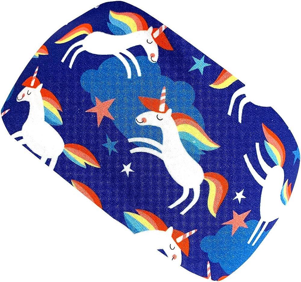 Wollhuhn Girls Headband Blue Happy Unicorn Blau One Size