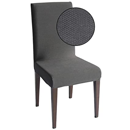 Superb Gray Jacquard Spandex Dining Chair Covers 4 Pcs Stretch Removable Washable Dining Chair Slipcovers Gray Jacquard 4 Uwap Interior Chair Design Uwaporg