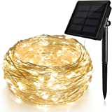 Solar String Lights (72 ft, Waterproof, 8 Modes), Ankway Bendable Copper Wire High Efficiency 200 LED Durable Fairy Outdoor String Lights for Garden, Patio, Wedding and Christmas Party (Warm White)