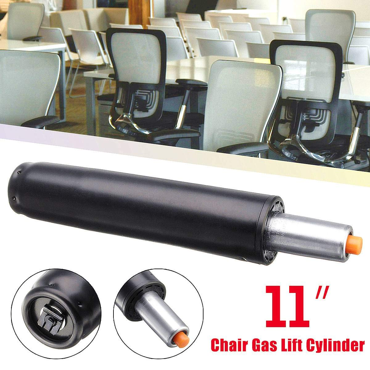 Fevas Heavy 11'' Pneumatic Rod Gas Lift Cylinder Chair Replacement Accessories for General Office Chairs Bar Computer Chairs