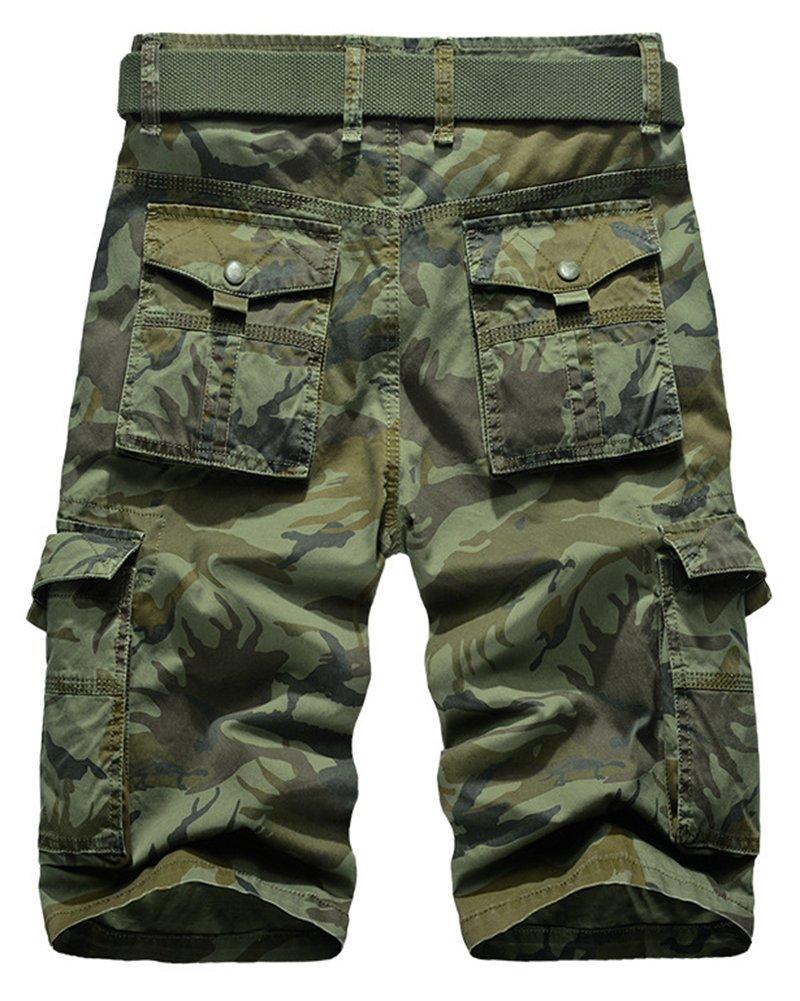 Hombre Camuflaje Casual Twill Cargo Shorts Multi Pockets Pantalones De Tallas Grandes 95Lk8ac