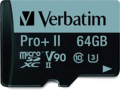 Amazon.com: Verbatim 64GB Pro II Plus 1900X microSDXC ...