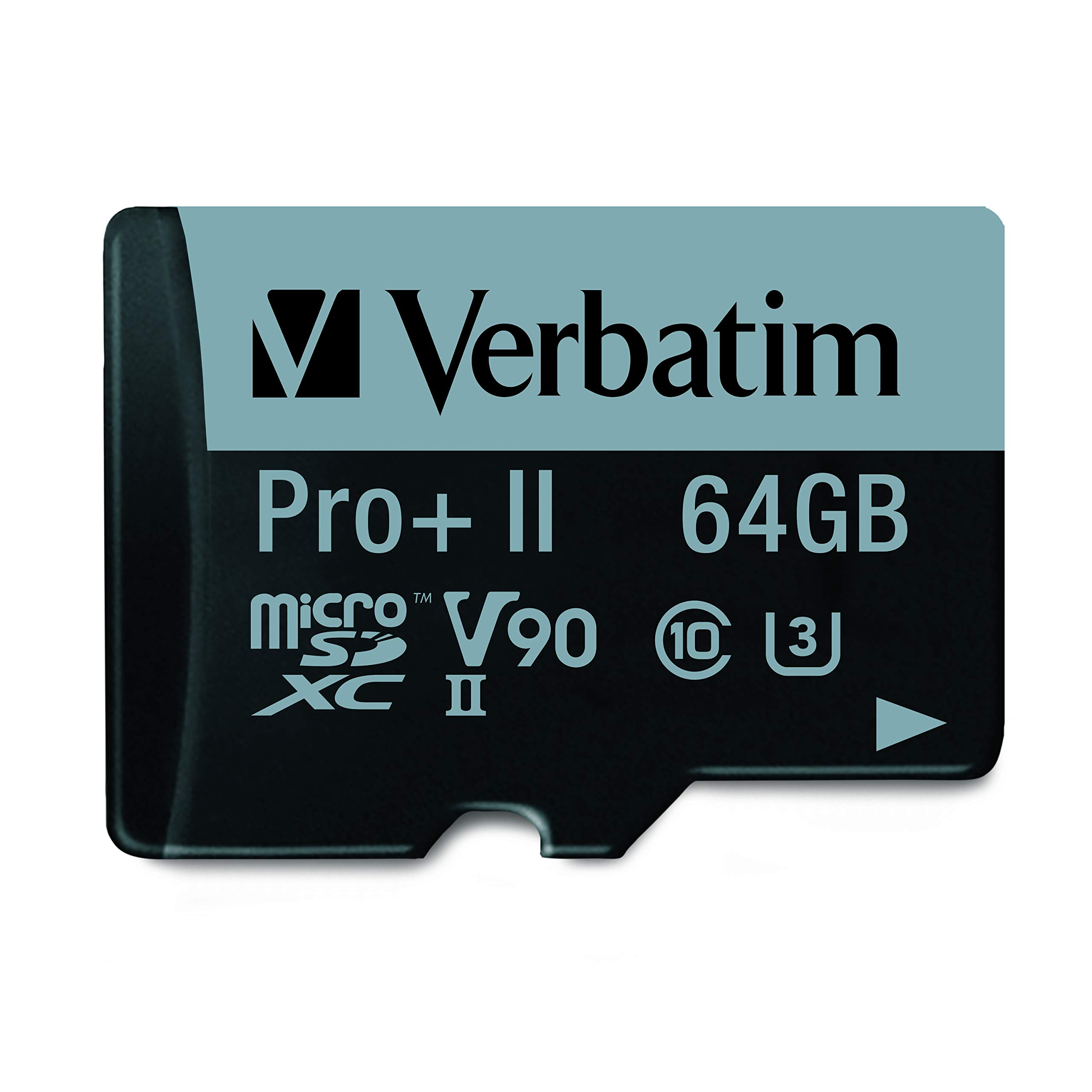 Verbatim 64GB Pro II Plus 1900X microSDXC Memory Card with..