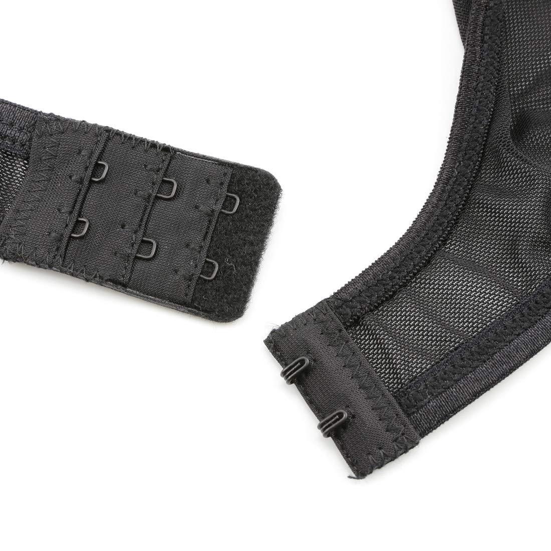 Slocyclub Women High Waist Faux Leather Black Lace Garter Belt Set