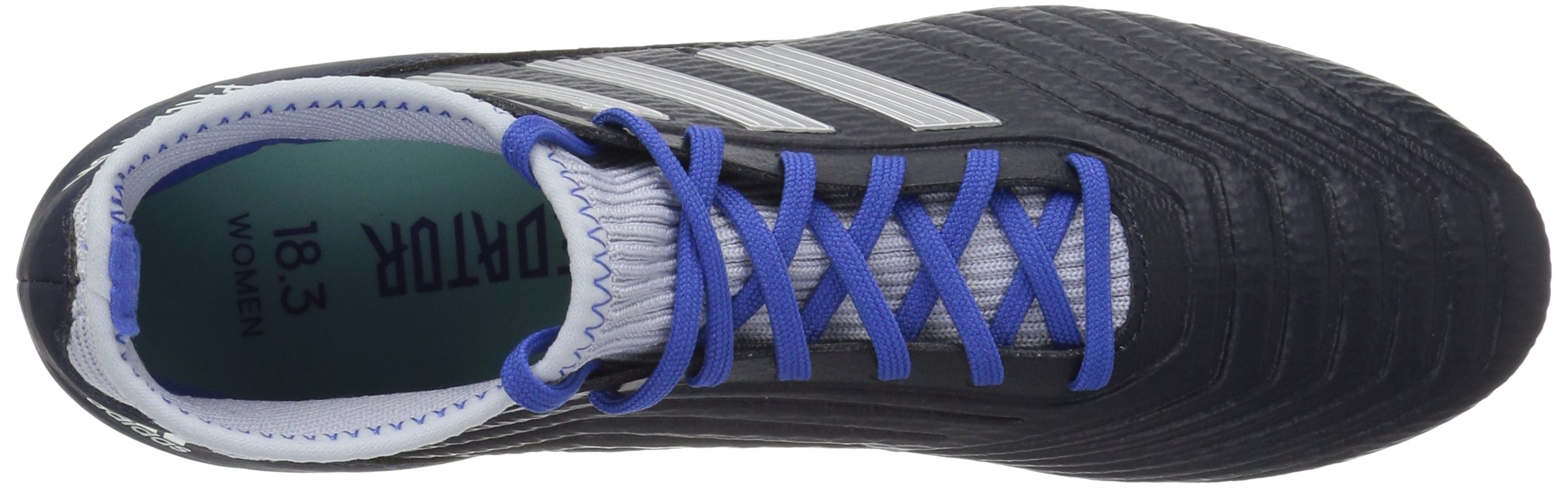 adidas Women's Predator 18.3 Firm Ground Soccer Shoe Legend Ink/Silver Metallic/aero Blue 5.5 M US by adidas (Image #7)