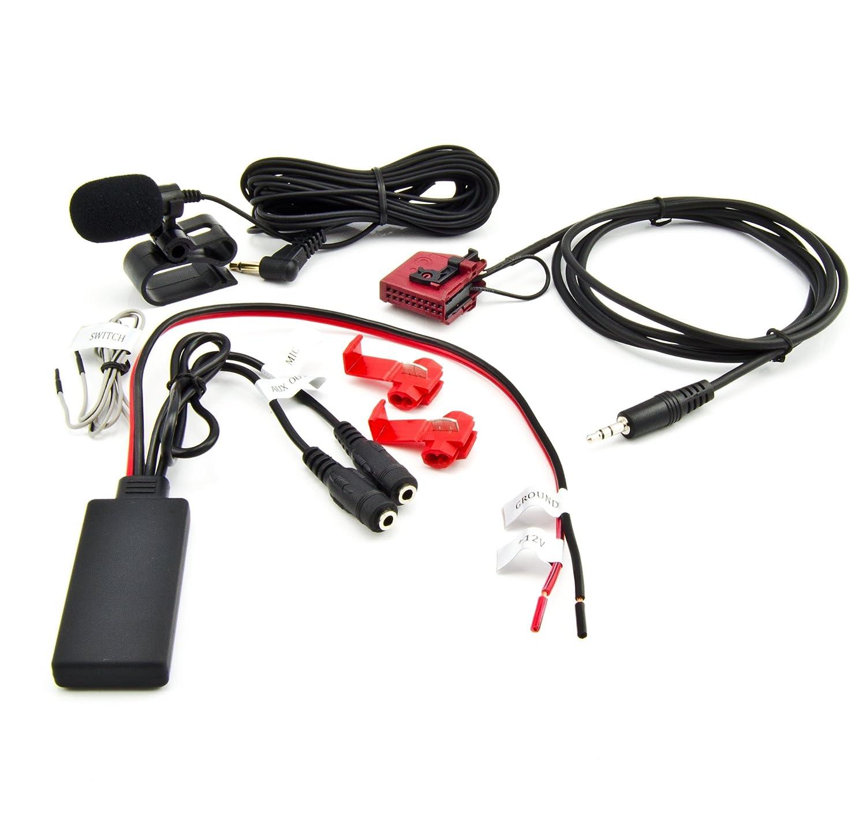 Bluetooth AUX Adaptador Mercedes W168, W203, W208, W209, W211, W163, W164, R170 Comand 2.0 Radio MP3 Spotify Manos Libres llamadas R170Comand 2.0Radio MP3Spotify Manos Libres llamadas Watermark WM-BTMIC21