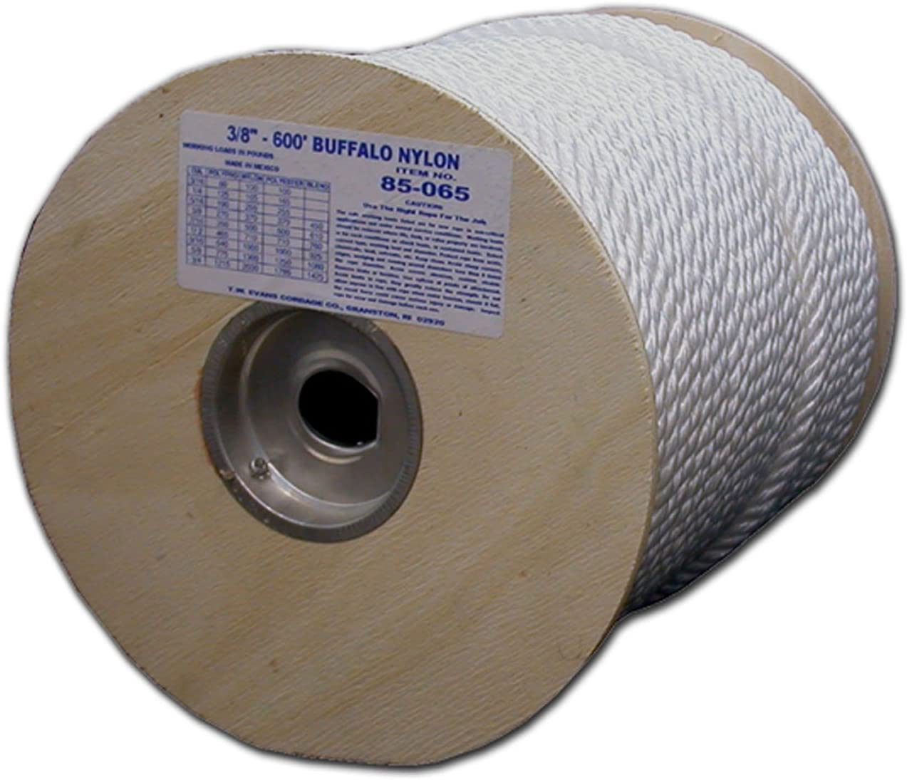 T.W Evans Cordage 85-092 1-Inch by 300-Feet Twisted Nylon Rope T.W Evans Cordage Co.