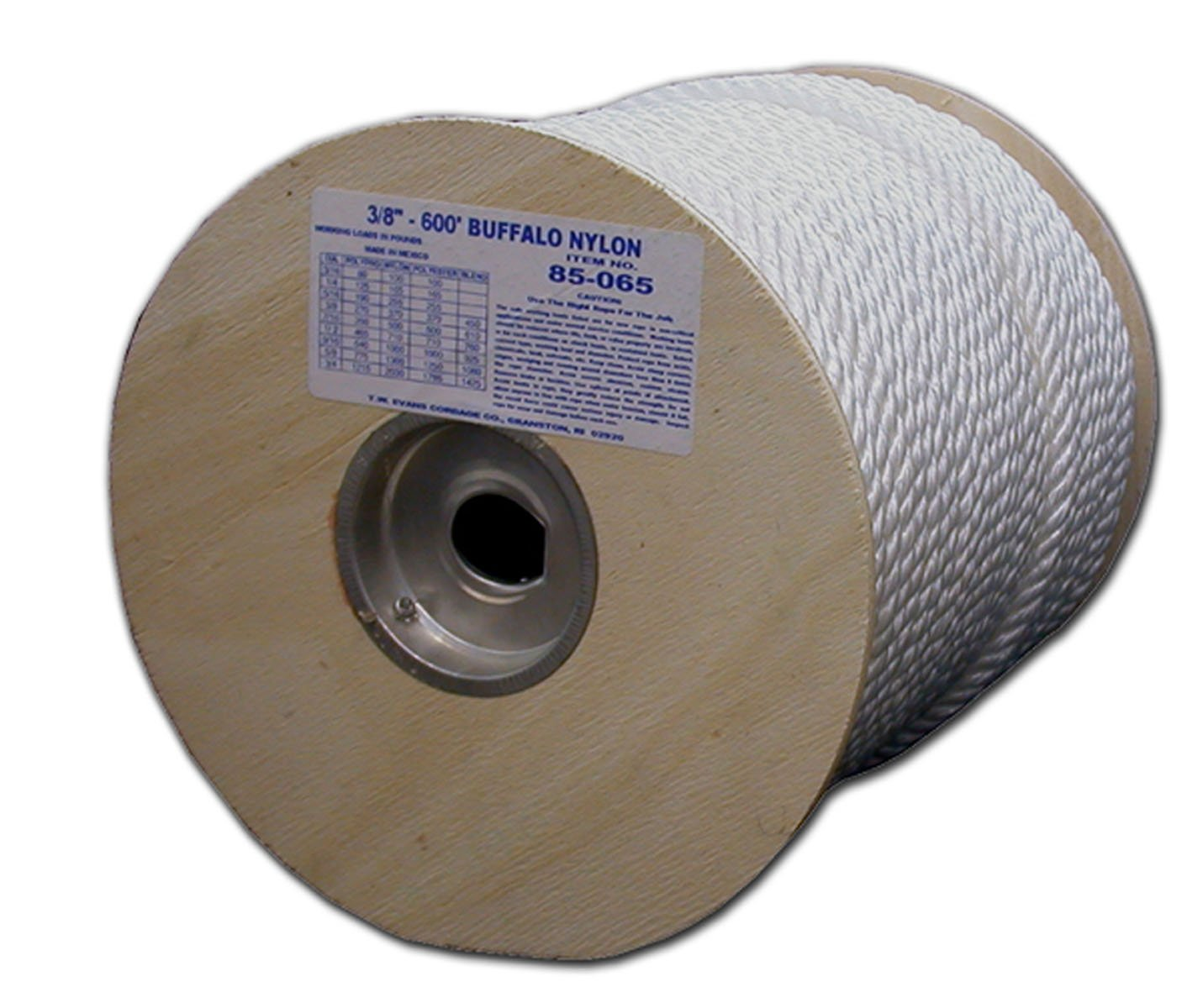 T.W Evans Cordage 85-063 3/8-Inch by 300-Feet Twisted Nylon Rope by T.W . Evans Cordage Co. (Image #1)