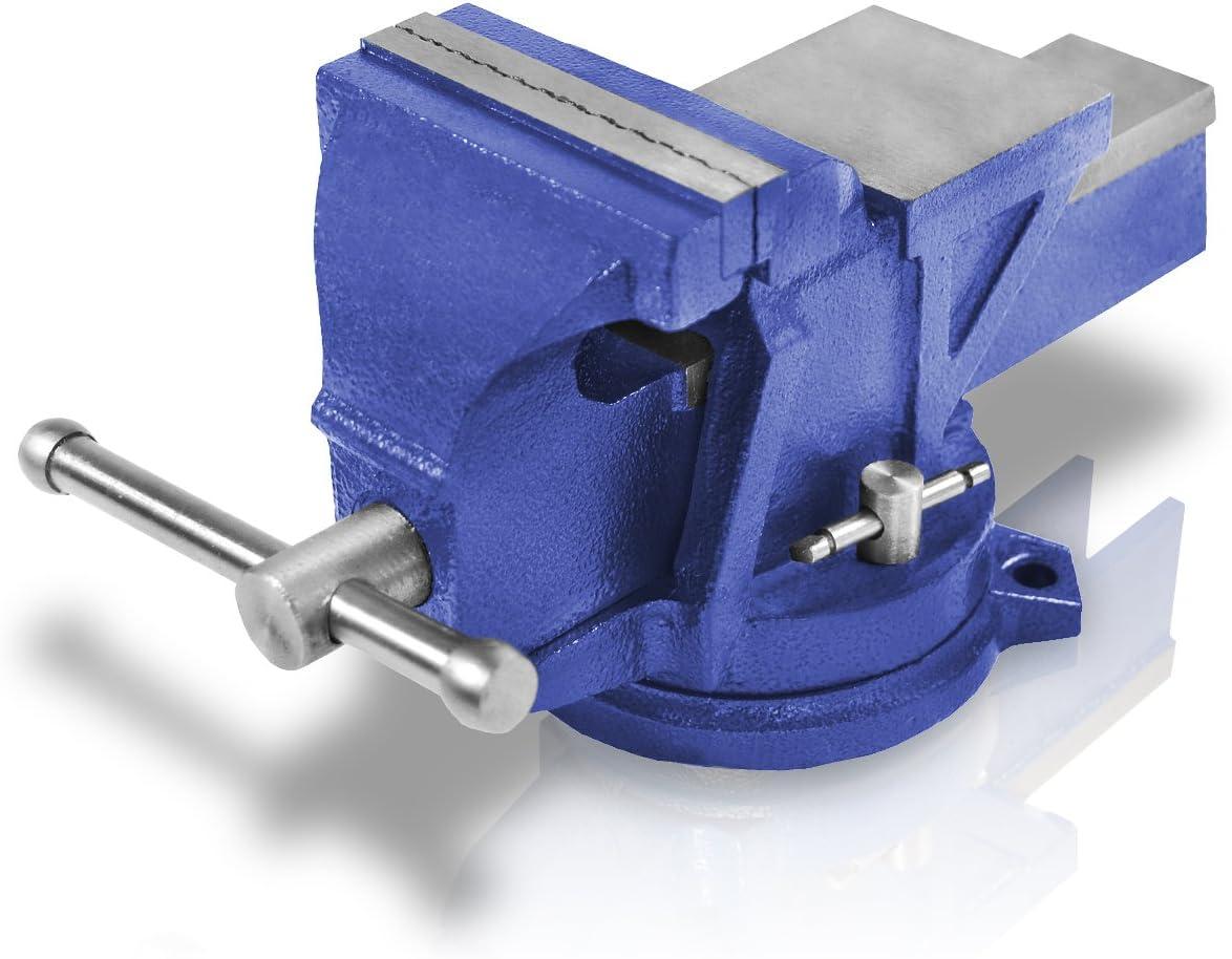 Berlan - Tornillo de banco paralelo (100 mm, 7 kg, giratorio)