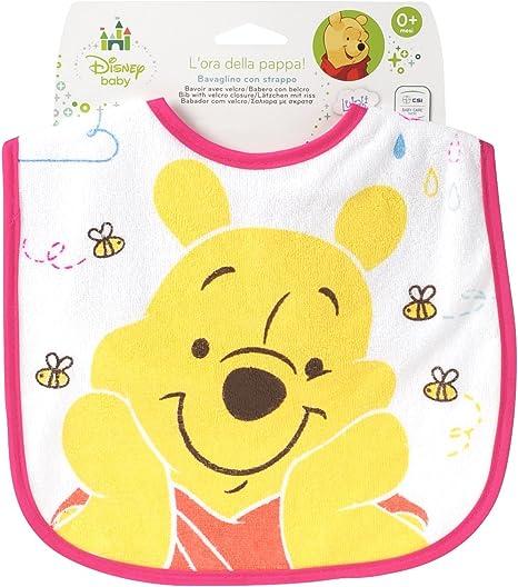Lulabi 8116400 babero de algodón, Velcro Winnie: Amazon.es: Bebé