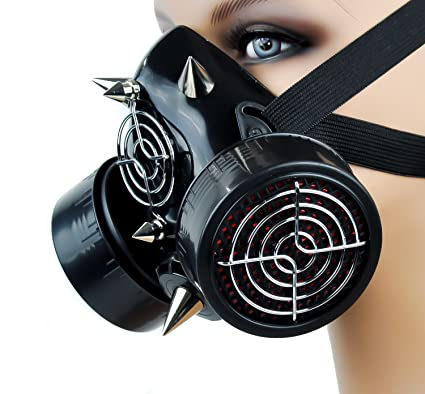cyber mask  steampunk gas mask  Breaking Bad  goth mask spikes mask  Apocalyptic  mad  gothik party mask masquerade Halloween