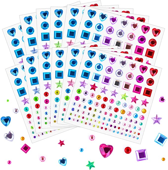 775Pc//Set Self Adhesive Rhinestone Crystal Diamond Decor Gems Gemstones Ca CL