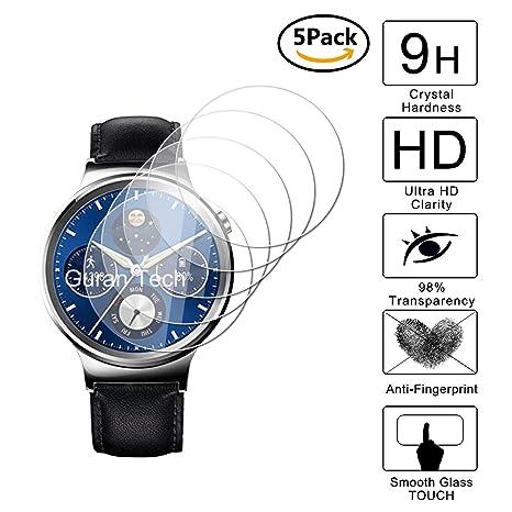 Guran [5-Unidades] Protector de Pantalla Vidrio Cristal Templado para Huawei Watch Classic (Generation 1)/ Huawei Watch Elite Smartwatch Cristal ...