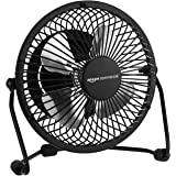 AmazonCommercial 4-Inch Table Fan with Power Adapter and USB Cable