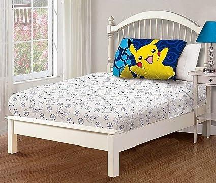 Amazon.com: Pokemon 3 Piece Twin Sheet Set: Home & Kitchen