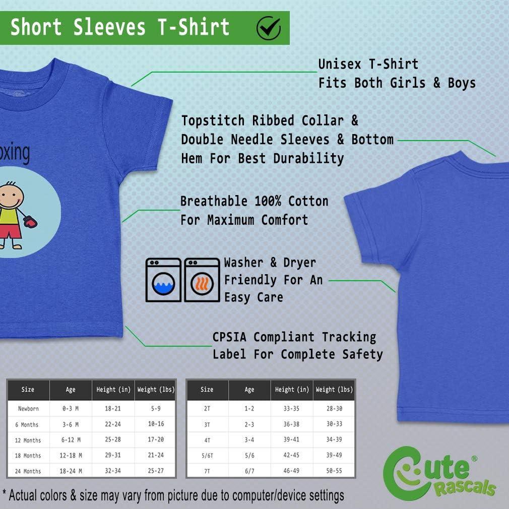 Custom Baby /& Toddler T-Shirt Sportsman Cartoon Boxing Cotton Boy Girl Clothes