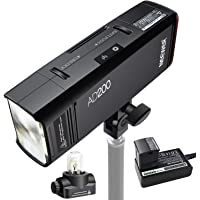 Neewer AD200 200Ws 2.4G TTL Outdoor Flash Strobe 1/8000 HSS Cordless Monolight with 2900mAh Lithium Battery,Bare Bulb/Speedlite Flash Head to Provide 500 Full Power Shots Recycle in 0.01-2.1 Seconds