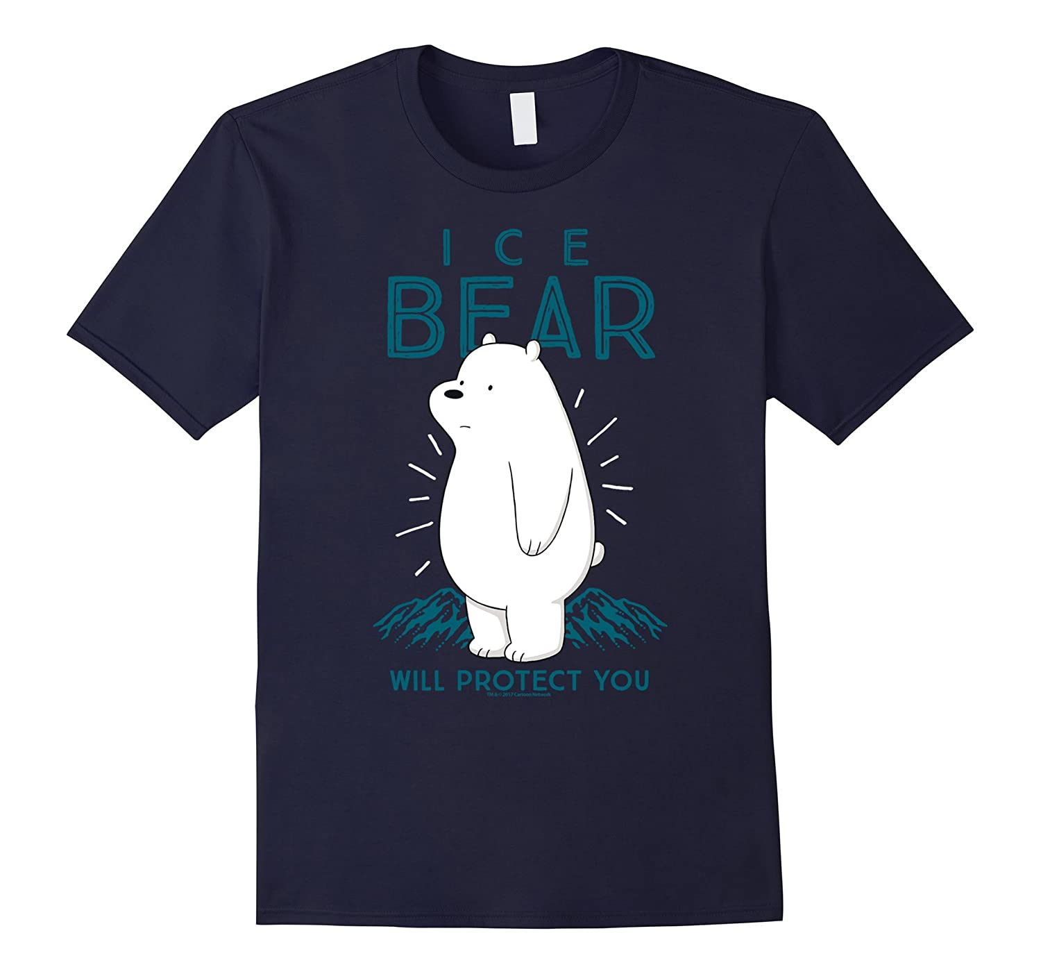CN We Bare Bears Ice Bear Will Protect You Graphic T-Shirt-ah my shirt one gift