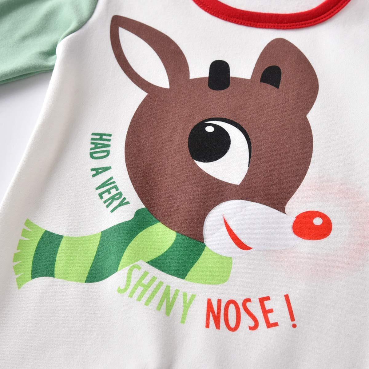 Gagacity Weihnachtskleidung Baby Strampler Unisex Neugeborene Overall Pyjamas Baumwolle f/ür 0-24Monate