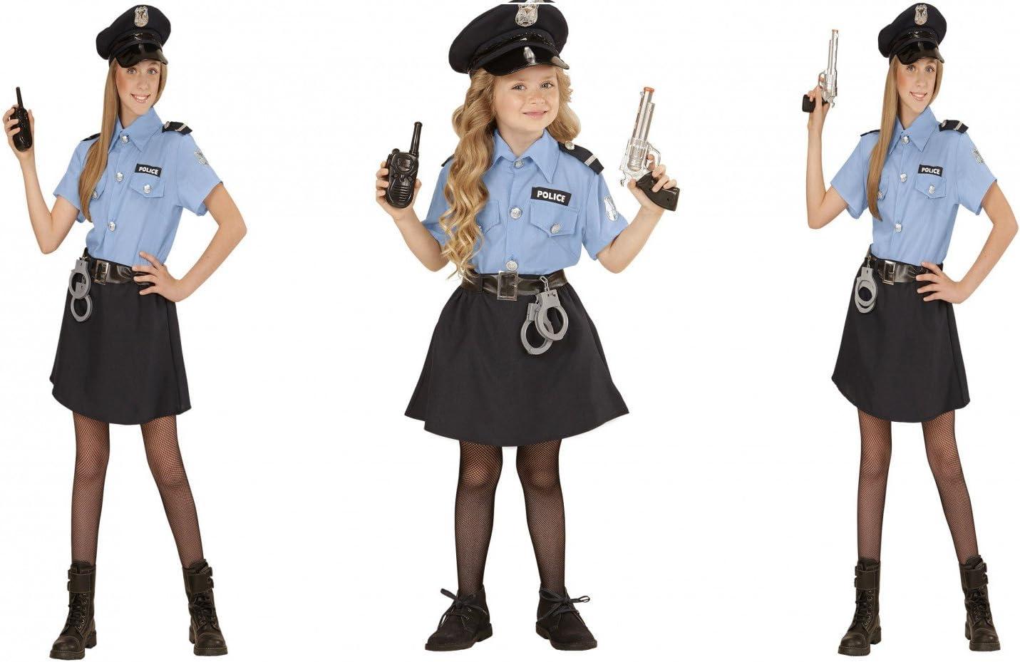 Disfraz de policía para mujer y niña, (158 cm / 11-13 Years ...