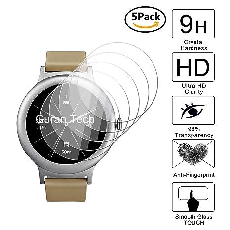 Guran [5-Unidades] Protector de Pantalla Vidrio Cristal Templado para LG Watch Style Smartwatch Cristal Vidrio Templado Film (9H, 2.5D Edge, 0.3mm)