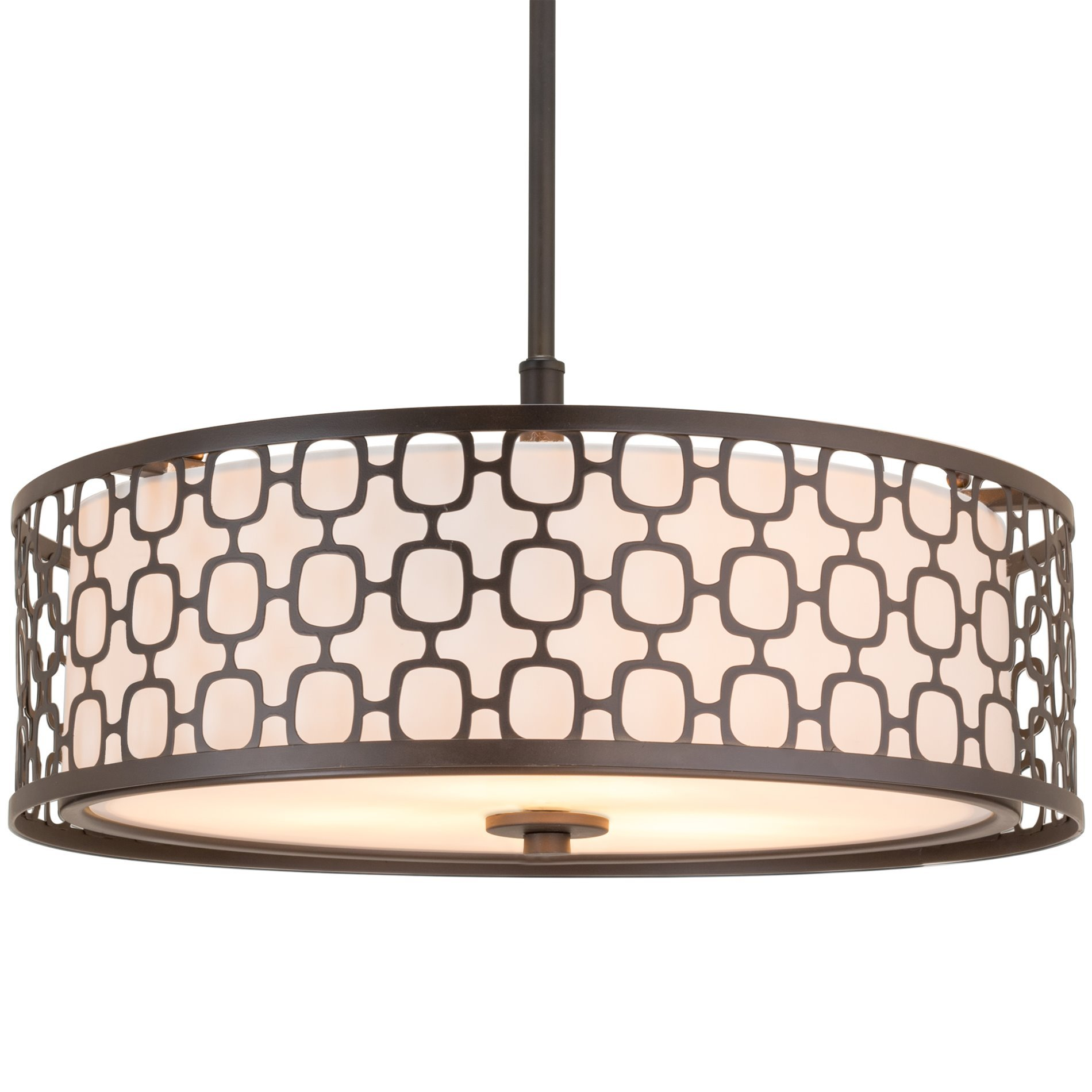 "Revel Harper 18"" 3 Light Double Drum Chandelier w Lattice Outer"