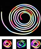 CITRA AC 110-240V Flexible RGB LED Neon Light Strip IP65 8-Mode Changing 120LEDs/m LED Rope Light with Remote (Multicolour)