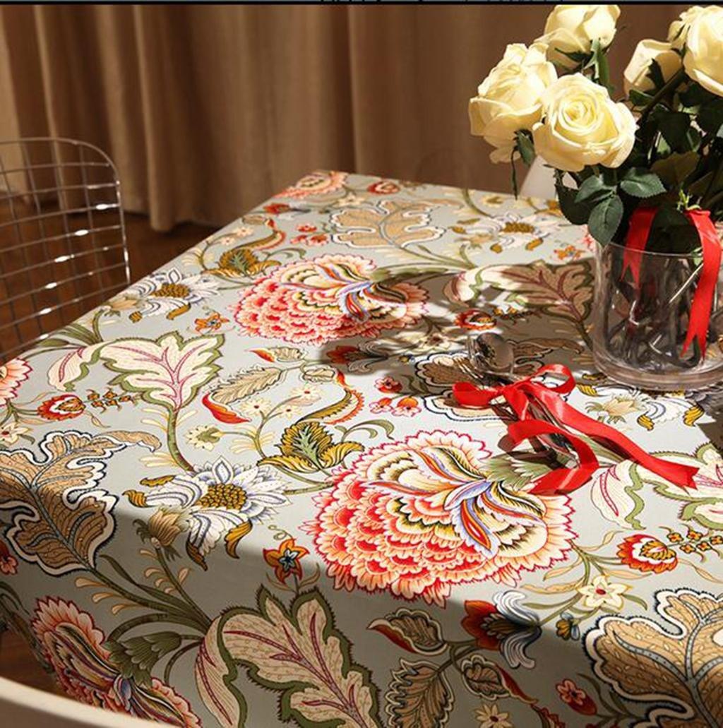 Besticktes HETAO personnalité Rechteck Tableclothlinen PkiXOZuT