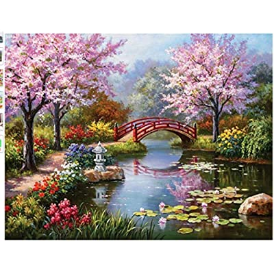 QPGGY Jigsaw Puzzles 300 Pieces for Adults Kids Landscape Garden Bridgewooden Puzzles Educational Games Toys for Children Animation Pairing Puzzles Gift: Toys & Games
