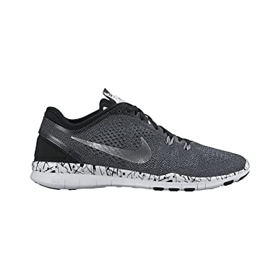 d107a408b6ea Nike Women s Free 5.0 TR Fit Training Shoe (Print) Black White Cool