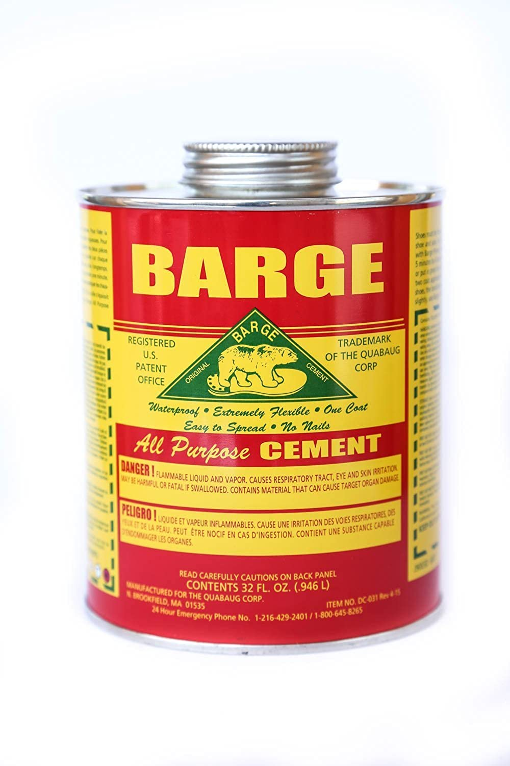 Cheap Barge All-purpose Cement Rubber Leather Shoe Waterproof Glue 1 Qt (O.946 L) for sale