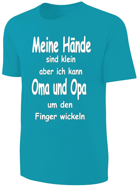 Kinder Sprüche Shirt OMA UND OPA BLAU