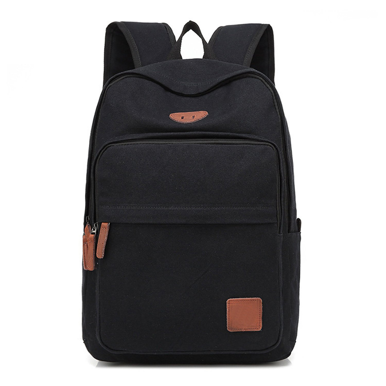 Men Canvas Backpack Rucksack Traveling Sport Schoolbag Laptop Hiking Book Bags