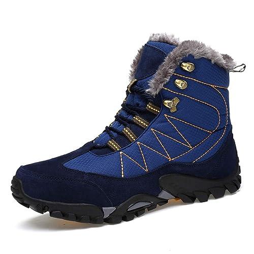 Winterschuhe Herren Damen Warm Gefüttert Boots Schneestiefel