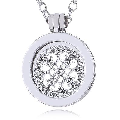 [Sponsored]Morella Women's Amulet Coins 33 mm Zirconia Stones 4C1mf9Y
