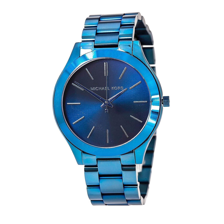 5db29c5a0b70 Amazon.com  Michael Kors Women s Slim Runway Blue Watch MK3419  Michael Kors   Watches