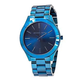 7c2d5c8db630 Amazon.com  Michael Kors Women s Slim Runway Blue Watch MK3419 ...