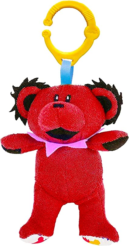 Daphyls Grateful Dead Dancing Bear Interactive Plush Toy /& Rattle for Baby Red