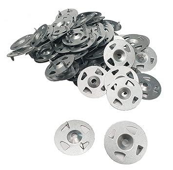Arandelas de acero inoxidable de fácil fijación, 34 mm de ...