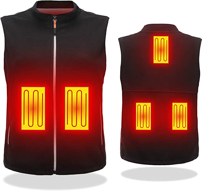 DOACE Heated Vest Men USB Electric Charging Jackets Women Heating Waistcoat (Battery Not Include) at Amazon Men's Clothing store