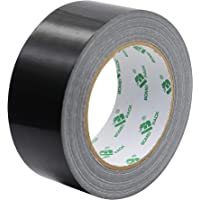 Heavy Duty Black Duct Tape, Multi-Use Easy Tear by Hand Duct Tape for Home, Repair, Maintenance and Industrial Use, 1.88…